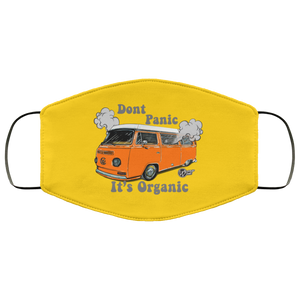 Face Mask Don't Panic It's Organic (Multiple color), - Aircooled VW - Vintage Vdub