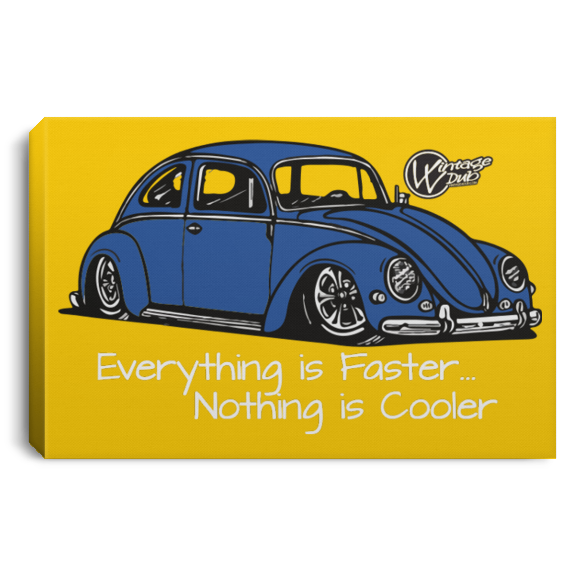 Vintage Bug Framed Canvas 3 Sizes, - Aircooled VW - Vintage Vdub