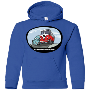 My Best Friend Is A Bulli Youth Pullover Hoodie, - Aircooled VW - Vintage Vdub