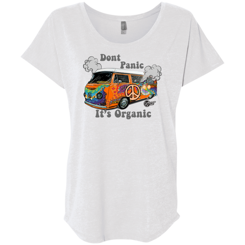 Hippie Bus Next Level Triblend, - Aircooled - Vintage Vdub - Vw