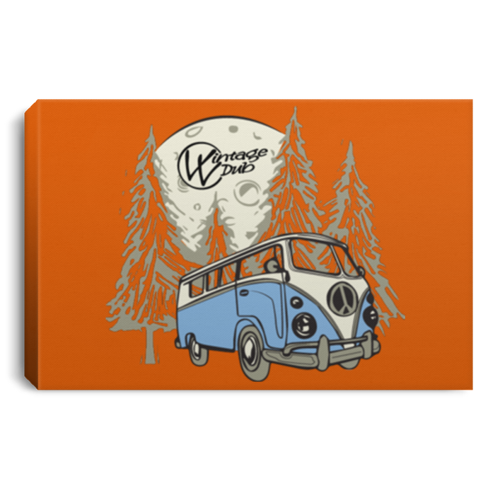 Moonlight Drive Framed Canvas 3 Sizes, - Aircooled VW - Vintage Vdub