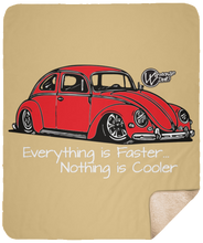 Load image into Gallery viewer, Vintage Bug Fleece Sherpa Blanket 50 x 60, - Aircooled VW - Vintage Vdub