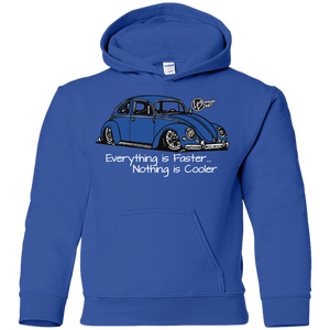 Everything Is Faster Nothing Is Cooler Youth Pullover Hoodie, - Aircooled VW - Vintage Vdub