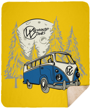 Load image into Gallery viewer, Moonlight Drive 2 Fleece Sherpa Blanket 50 x 60, - Aircooled VW - Vintage Vdub