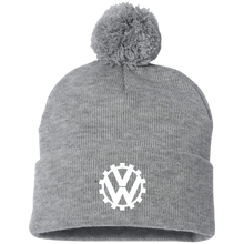 Load image into Gallery viewer, COG  Pom Beanie, - Aircooled VW - Vintage Vdub