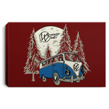 Moonlight Drive Framed Canvas, - Aircooled - Vintage Vdub - Vw