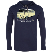 Load image into Gallery viewer, Camper Bus ~ Lightweight Hoodie (Tan), - Aircooled VW - Vintage Vdub