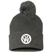 Load image into Gallery viewer, Peace Sign Pom Beanie, - Aircooled VW - Vintage Vdub