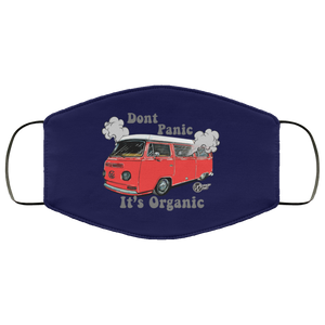 Face Mask Don't Panic It's Organic (Multiple colors), - Aircooled VW - Vintage Vdub