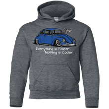 Load image into Gallery viewer, Everything Is Faster Nothing Is Cooler Youth Pullover Hoodie, - Aircooled VW - Vintage Vdub