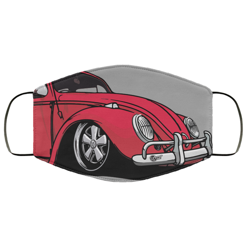 Face Mask Red Bug (Multiple Colors), - Aircooled VW - Vintage Vdub
