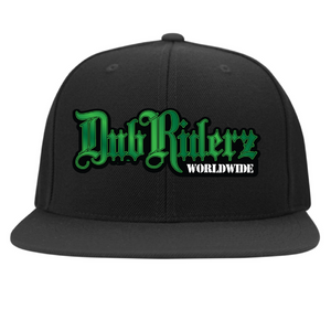 DubRiderz Embroidered Flexfit (Green), - Aircooled VW - Vintage Vdub