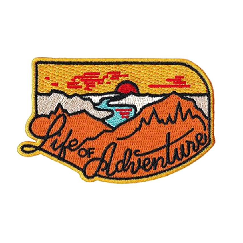 Life Of Adventure Embroidered Patch, - Aircooled VW - Vintage Vdub