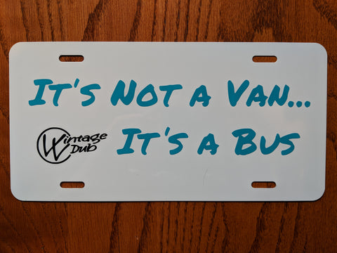 "License Plate ""It's Not A Van"" (Multiple Colors)"