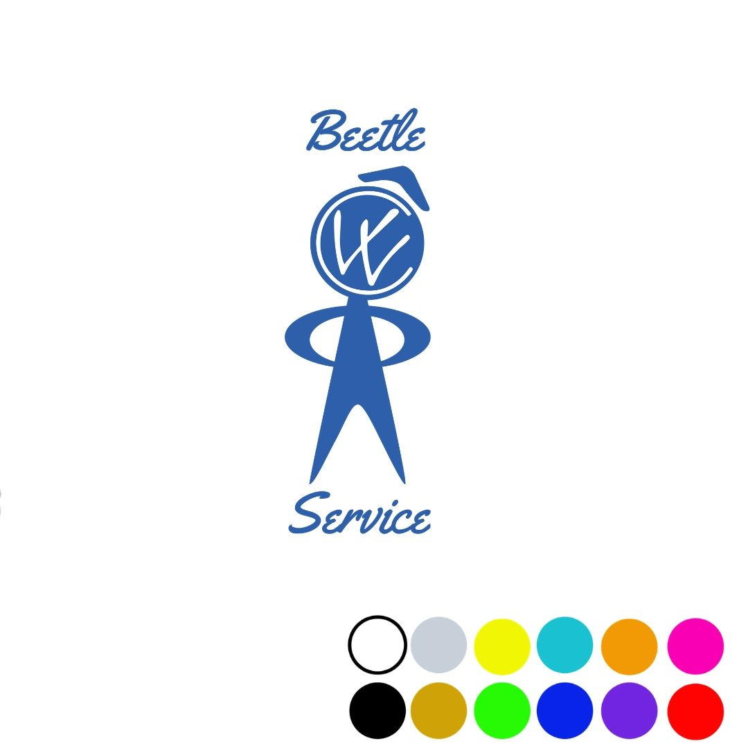 Beetle Service Decal 4.25