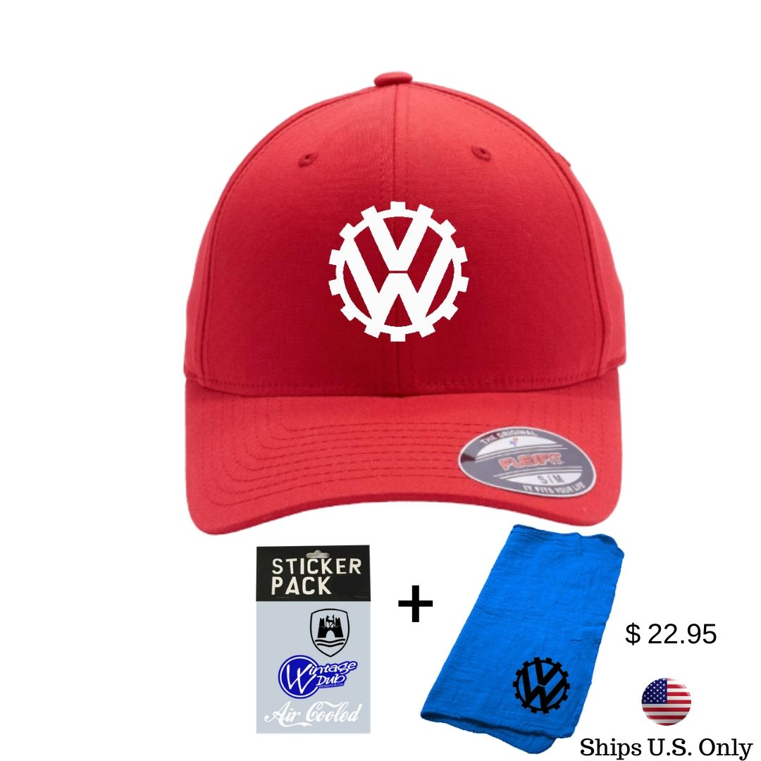 COG Embroidered S/M Flexfit Pack, - Aircooled VW - Vintage Vdub