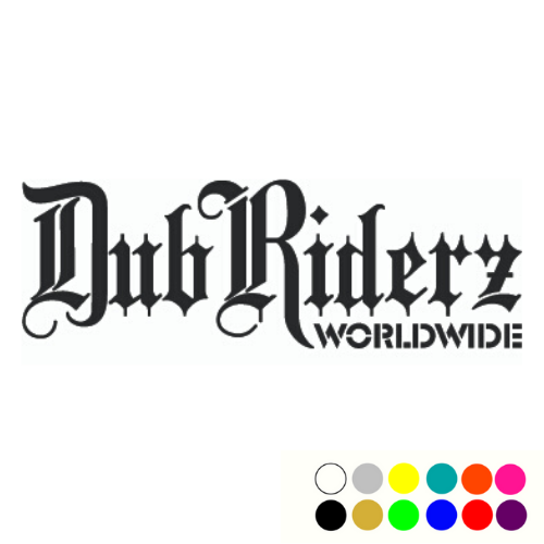 DubRiderz Window Decal, - Aircooled VW - Vintage Vdub