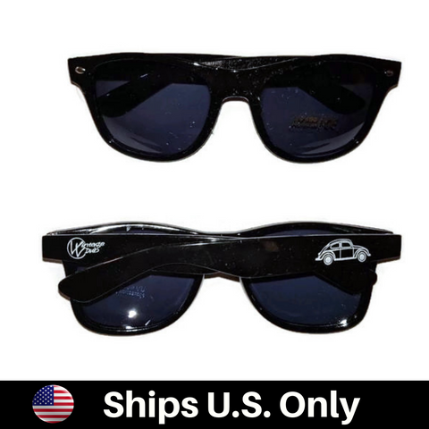 Bug Sun Glasses Black UV 400, - Aircooled - Vintage Vdub - Vw