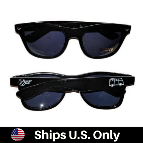 Bus Sun Glasses Black UV 400, - Aircooled - Vintage Vdub - Vw