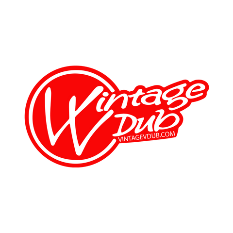 Vintage Vdub Sticker Red