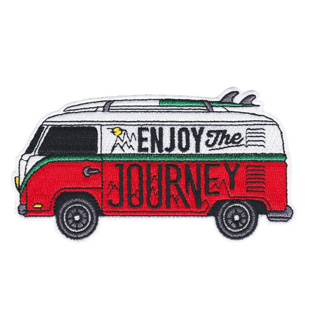 Journey Bus Embroidered Patch, - Aircooled VW - Vintage Vdub