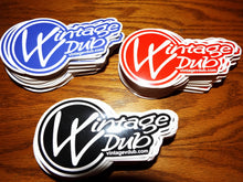 Load image into Gallery viewer, Vintage Vdub Sticker Black, - Aircooled VW - Vintage Vdub