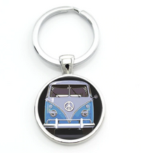 Load image into Gallery viewer, Blue Peace Bus, - Aircooled VW - Vintage Vdub