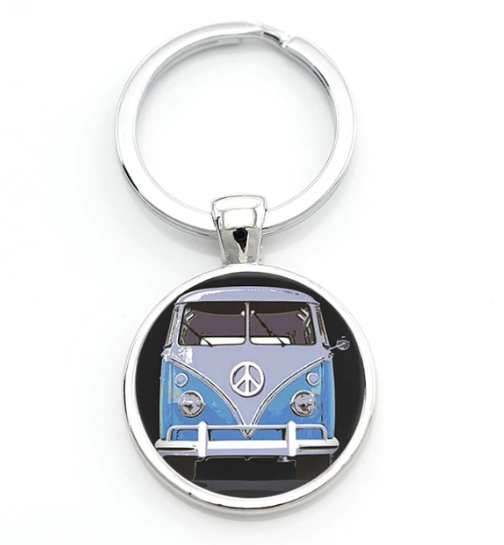 Blue Peace Bus, - Aircooled VW - Vintage Vdub