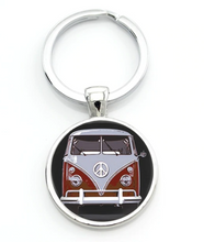 Load image into Gallery viewer, Red Splitty Keyring, - Aircooled VW - Vintage Vdub