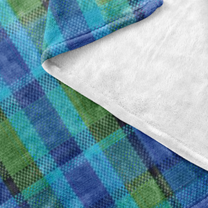 Westy Plaid Fleece Blanket - 30x40, - Aircooled VW - Vintage Vdub