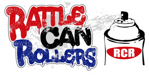 Rattle Can Rollers Sticker (2.5 x 5 in.)