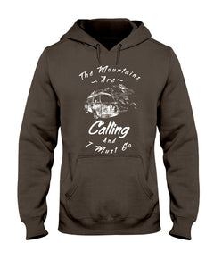The Mountains Are Calling Hoodie - Vintage Vdub