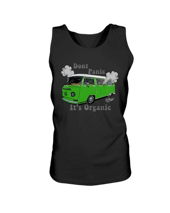 Don't Panic It's Organic Men's Tank Top, - Aircooled VW - Vintage Vdub