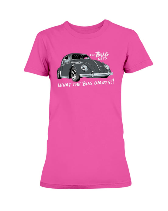The Bug Gets What The Bug Wants Women's T-Shirt, - Aircooled VW - Vintage Vdub