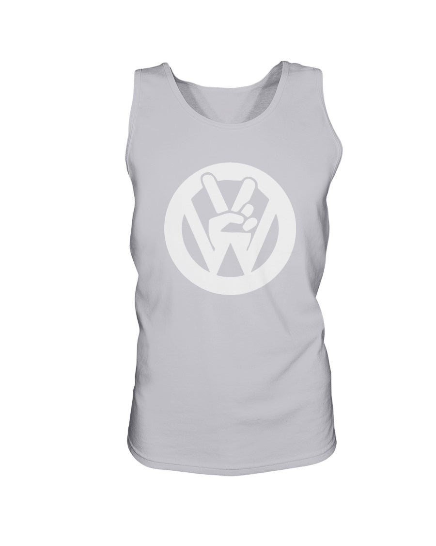 Peace Sign Men's Tank Top, - Aircooled VW - Vintage Vdub