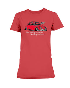 Everything Is Faster Bug Women's T-Shirt, - Aircooled VW - Vintage Vdub