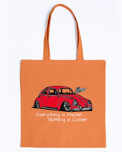 Everything Is Faster Nothing Is Cooler Canvas Tote, - Aircooled VW - Vintage Vdub
