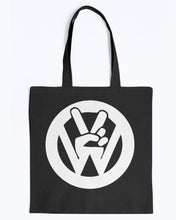 Load image into Gallery viewer, Peace Sign Canvas Tote, - Aircooled VW - Vintage Vdub