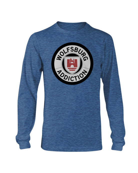 Wolfsburg Addiction Men's Long Sleeve, - Aircooled VW - Vintage Vdub