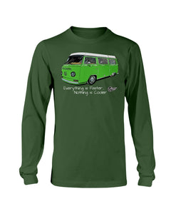 Everything Is Faster Nothing Is Cooler Men's Long Sleeve - Vintage Vdub