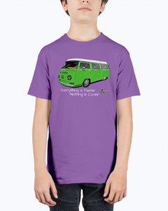Everything Is Faster Westy Kids Tee, - Aircooled VW - Vintage Vdub