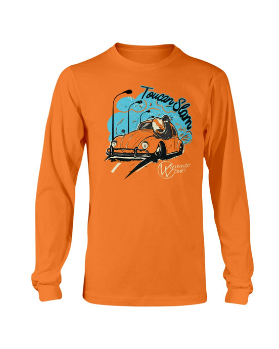 Toucan Slam Men's Long Sleeve, - Aircooled VW - Vintage Vdub