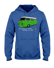 Load image into Gallery viewer, Everything Is Faster Nothing Is Cooler Hoodie, - Aircooled VW - Vintage Vdub