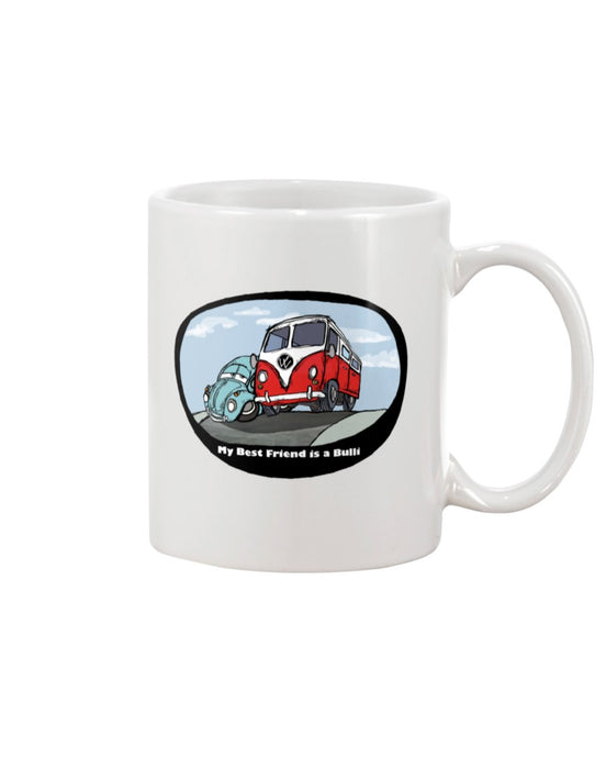 My Best Friend Is A Bulli Coffee Mug, - Aircooled VW - Vintage Vdub