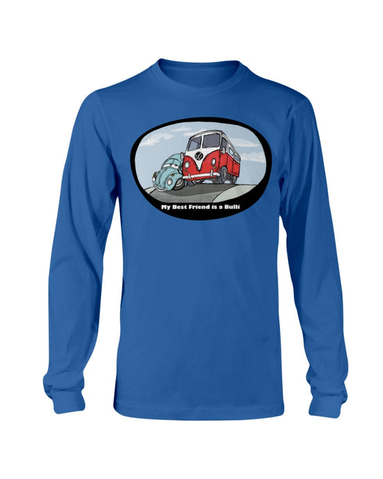 My Best Friend Is A Bulli Men's Long Sleeve, - Aircooled VW - Vintage Vdub