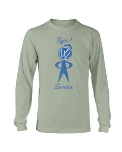 Type 1 Long Sleeve Tee, - Aircooled VW - Vintage Vdub