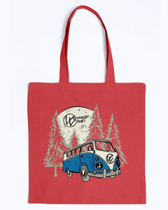 Moonlight Drive Canvas Tote, - Aircooled VW - Vintage Vdub
