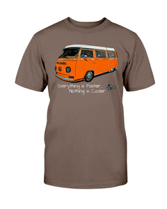 Everything Is Faster Nothing Is Cooler Men's Tee, - Aircooled VW - Vintage Vdub