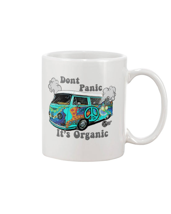 Don't Panic It's Organic Coffee Mug, - Aircooled VW - Vintage Vdub