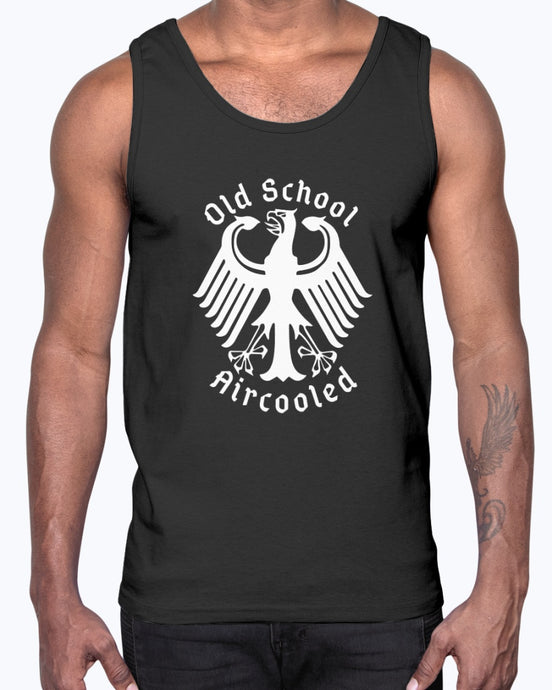 Old School Aircooled V.2 Men's Tank Top, - Aircooled VW - Vintage Vdub